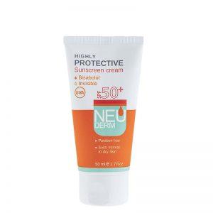 ضد آفتاب نئودرم فاقد رنگ با SPF 50