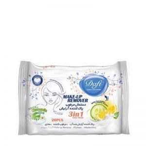 دستمال پاک کننده آرایش دافی